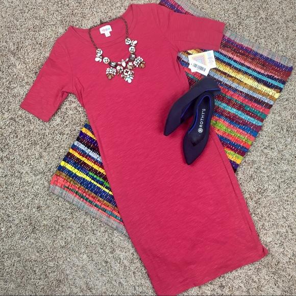 women • dress • lularoe julia • small • red